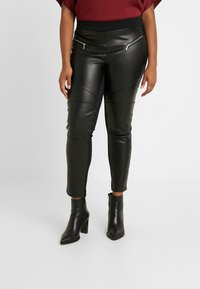 MICHAEL Michael Kors - MOTO - Leggings - black - 0