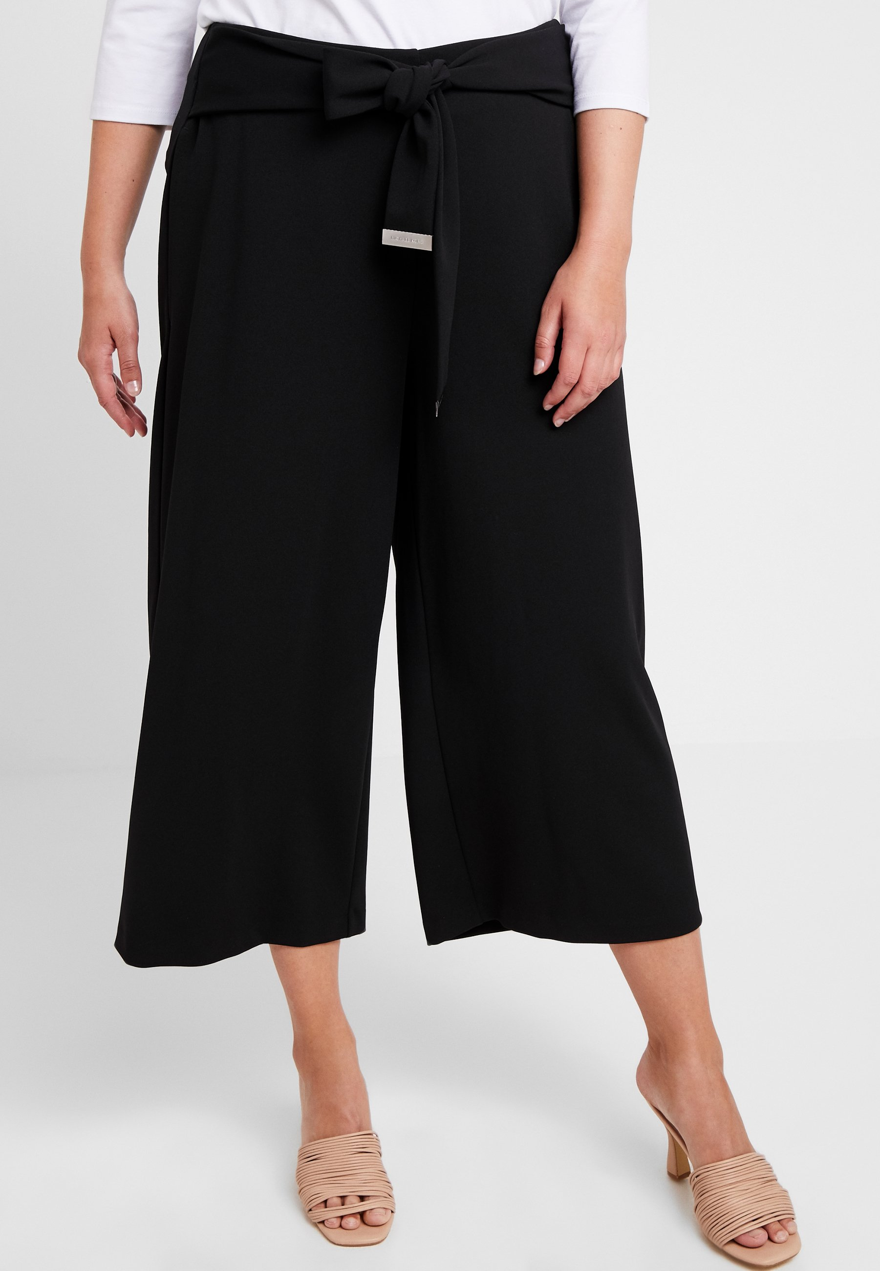 MICHAEL Michael Kors WIDE LEG CROP PANT - Pantalon classique black