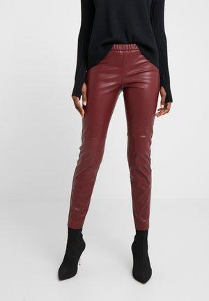 Leggings - Trousers - dark brandy