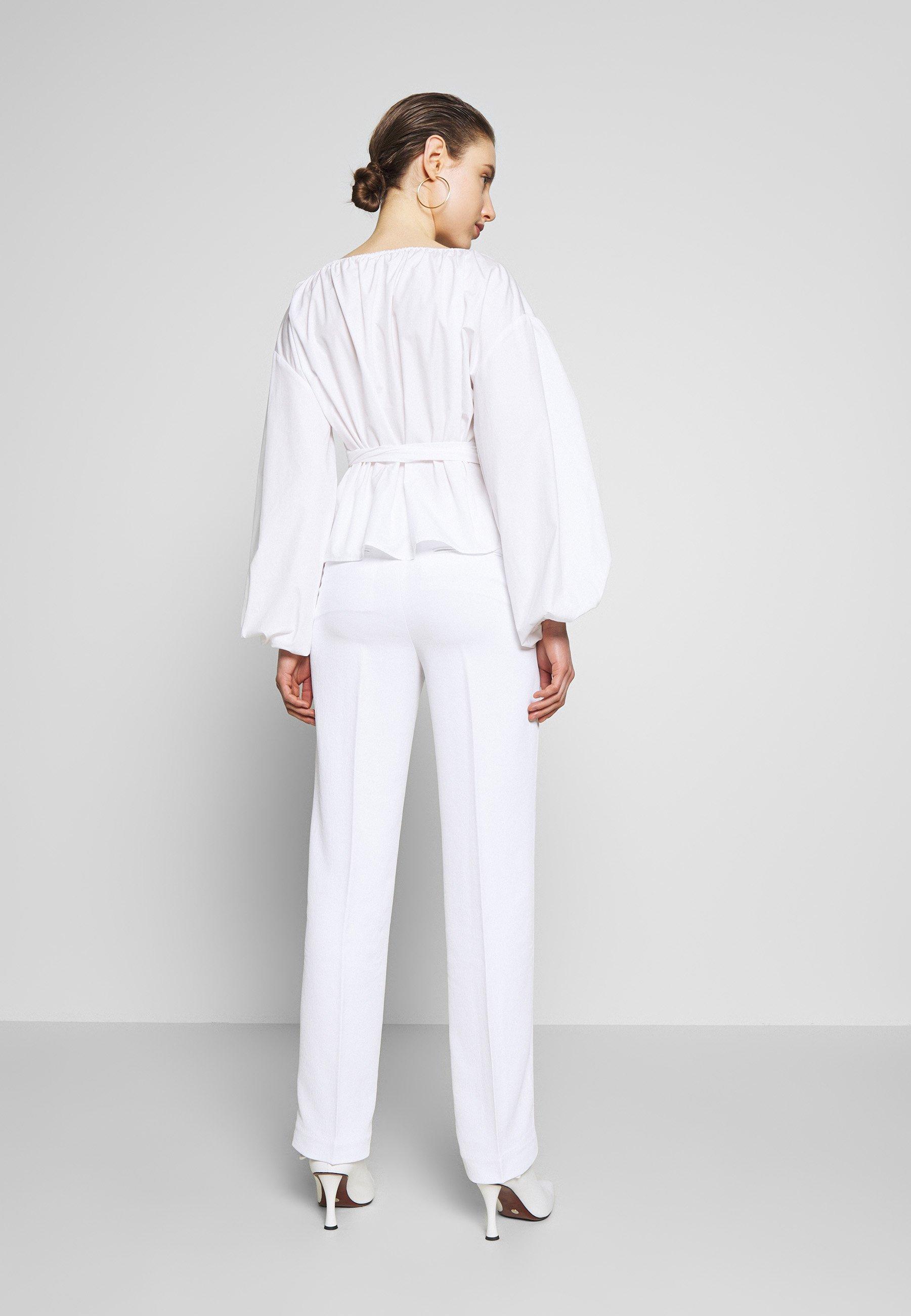 MICHAEL Michael Kors STRAIGHT LEG PANT - Spodnie materiałowe - white