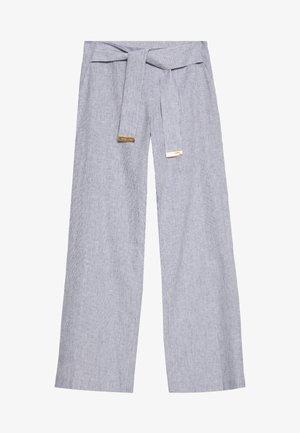 STRIPE TIE - Kalhoty - true navy