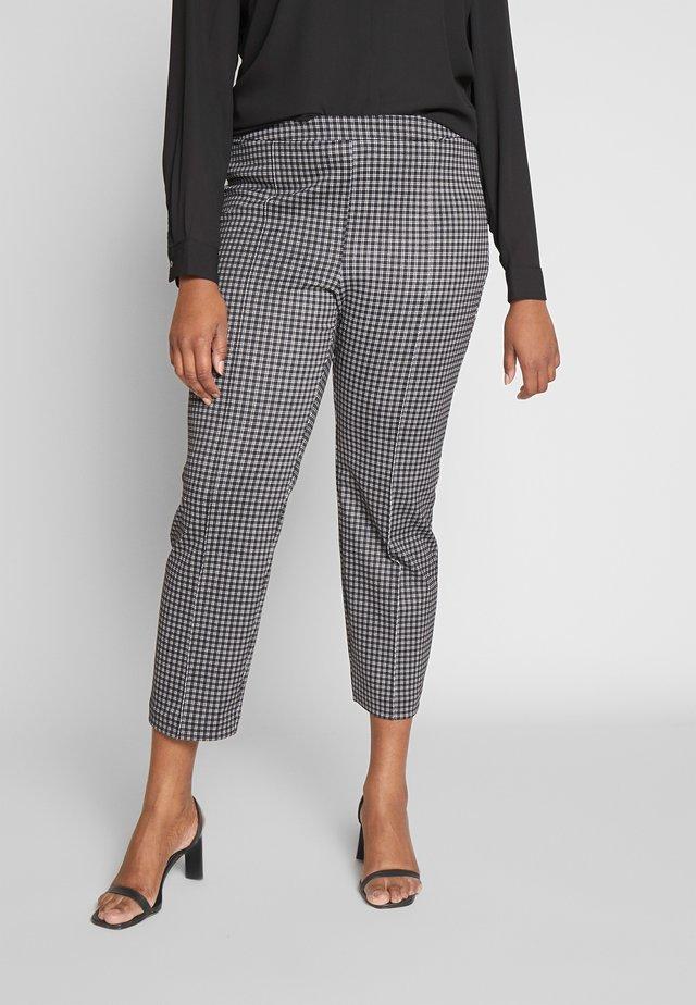 MICRO CHECK CIG CROP - Kalhoty - black/white