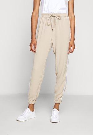 STRIPE TRACK PANT - Trousers - khaki