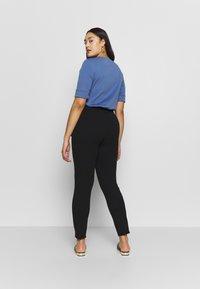 MICHAEL Michael Kors - SPLIT BOW TIE LEGG - Spodnie materiałowe - black - 2