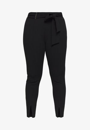 SPLIT BOW TIE LEGG - Trousers - black