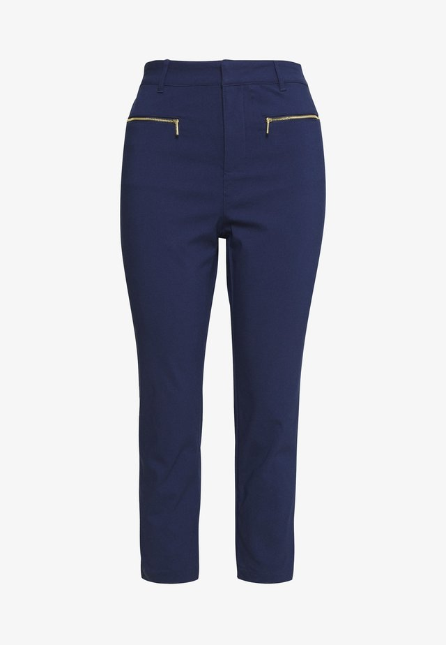 SKINNY ZIP - Pantalones - true navy