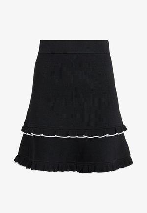 RUFLE SKIRT - Jupe trapèze - black