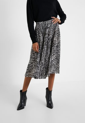 SAFARI PLEAT SKIRT - Spódnica trapezowa - gunmetal