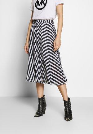 PLEAT SKIRT - A-line skirt - white/vintage blue