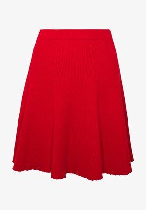 PANEL SKIRT - A-linjainen hame - scarlet