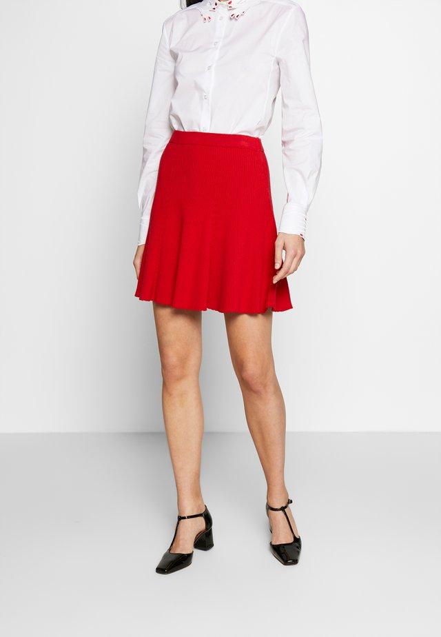 PANEL SKIRT - A-lijn rok - scarlet