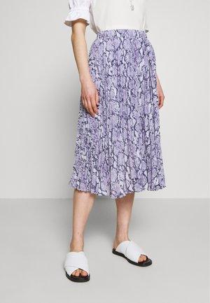 SNAKE  SKIRT - Áčková sukně - lavender mist