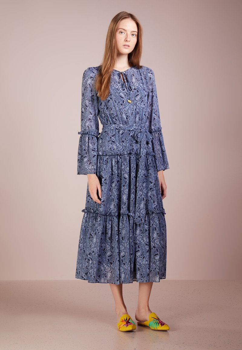 MICHAEL Michael Kors - TIERED BOHO DRESS - Maxikleid - true navy/light chambray