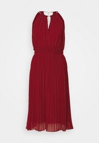MICHAEL Michael Kors - CHAIN NECK MIDI DRESS - Cocktail dress / Party dress - maroon - 0
