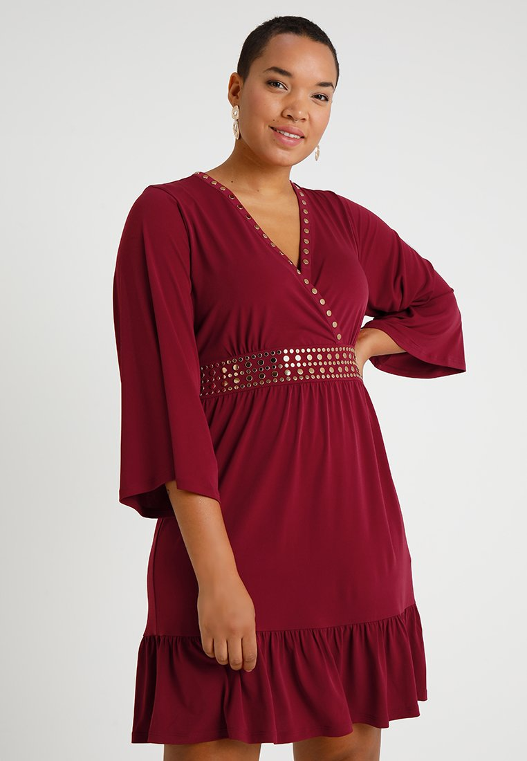 MICHAEL Michael Kors - PLUS HARDWARE - Jersey dress - maroon