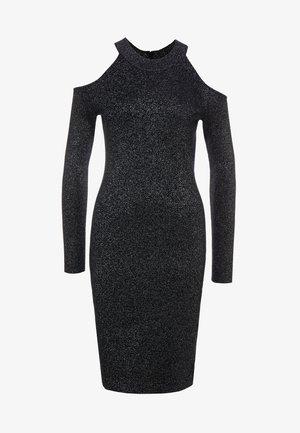 Sukienka dzianinowa - black/silver