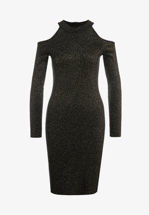 Pletené šaty - black/gold