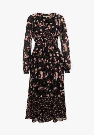 RAGLAN MIDI DRESS - Kjole - black/dusty rose