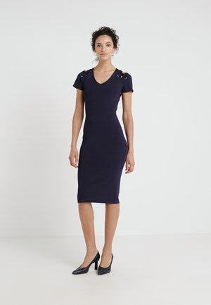 CUTOUT LACUP - Shift dress - true navy