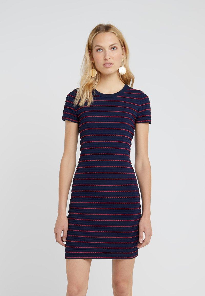 MICHAEL Michael Kors - TIPPED SCALLOP DRESS - Strikket kjole - dark blue/red