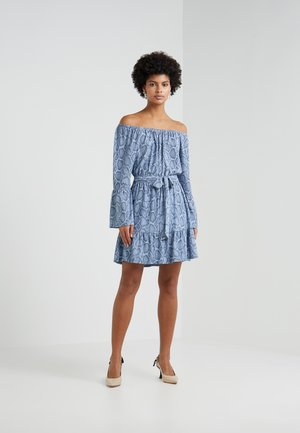 SNAKE WIDE - Robe en jersey - blue