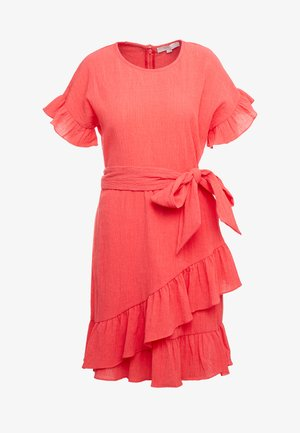 RUFFLE WRAP DRESS - Sukienka letnia - sea coral