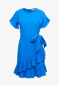 MICHAEL Michael Kors - RUFFLE WRAP DRESS - Denní šaty - grecian blue - 3
