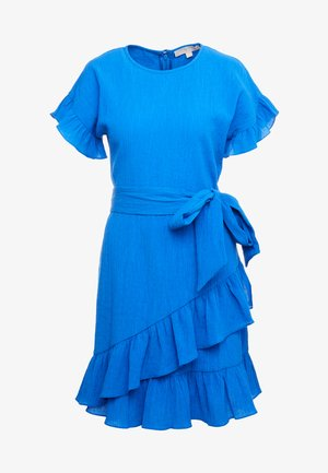 RUFFLE WRAP DRESS - Robe d'été - grecian blue