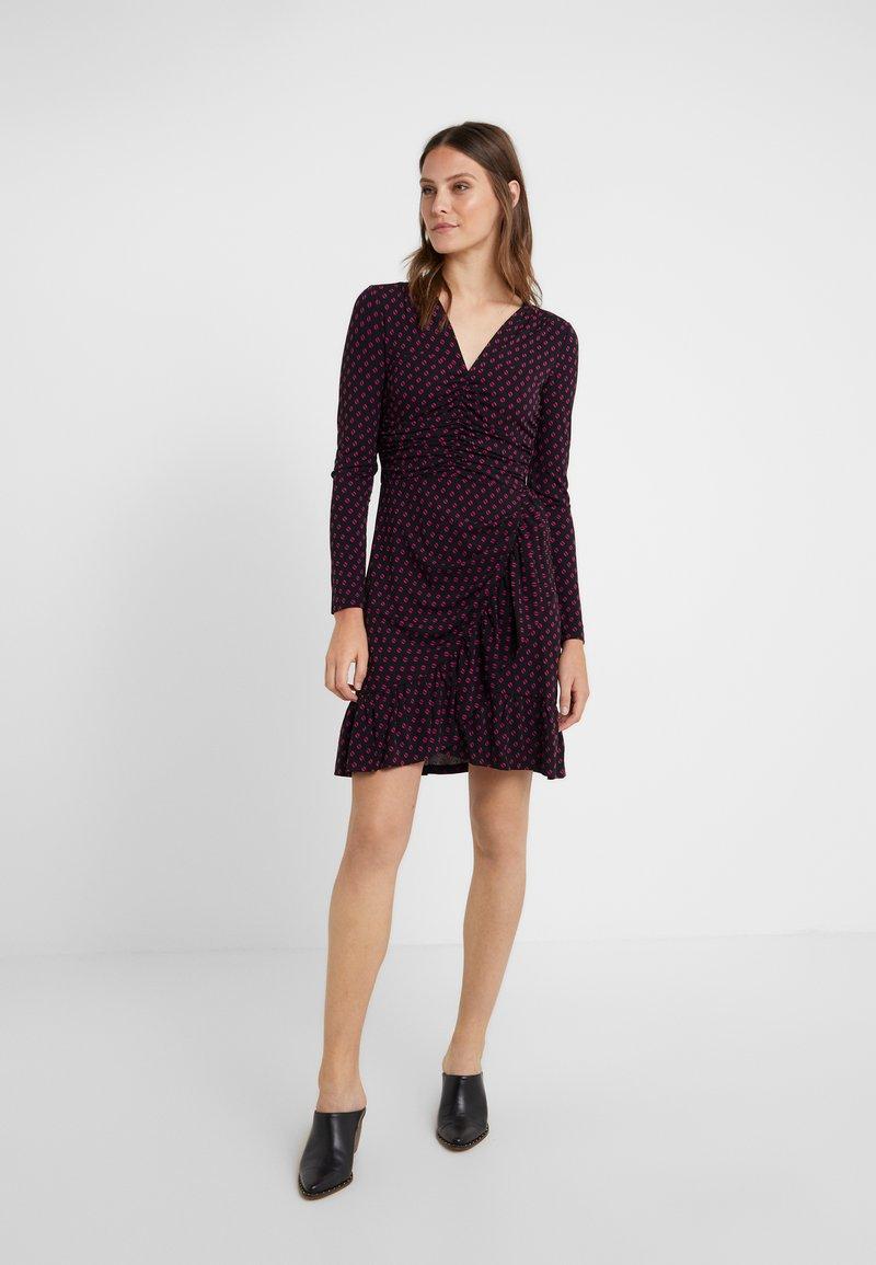 MICHAEL Michael Kors - ELV DOT - Jersey dress - black/deep fuchsia