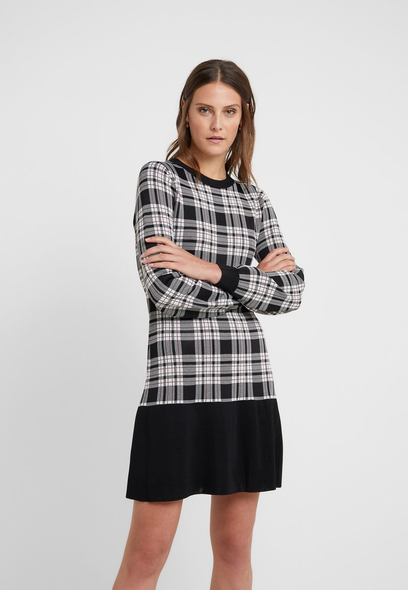 MICHAEL Michael Kors - PLAID FLARE HEM DRESS - Jumper dress - garnet
