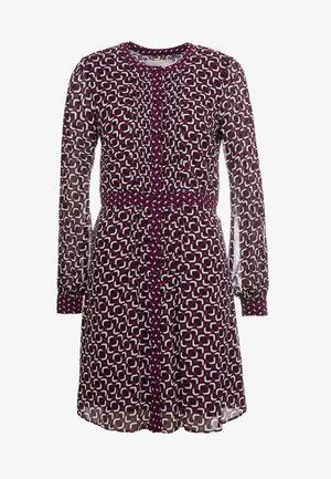 PINTUCK DRESS - Day dress - garnet
