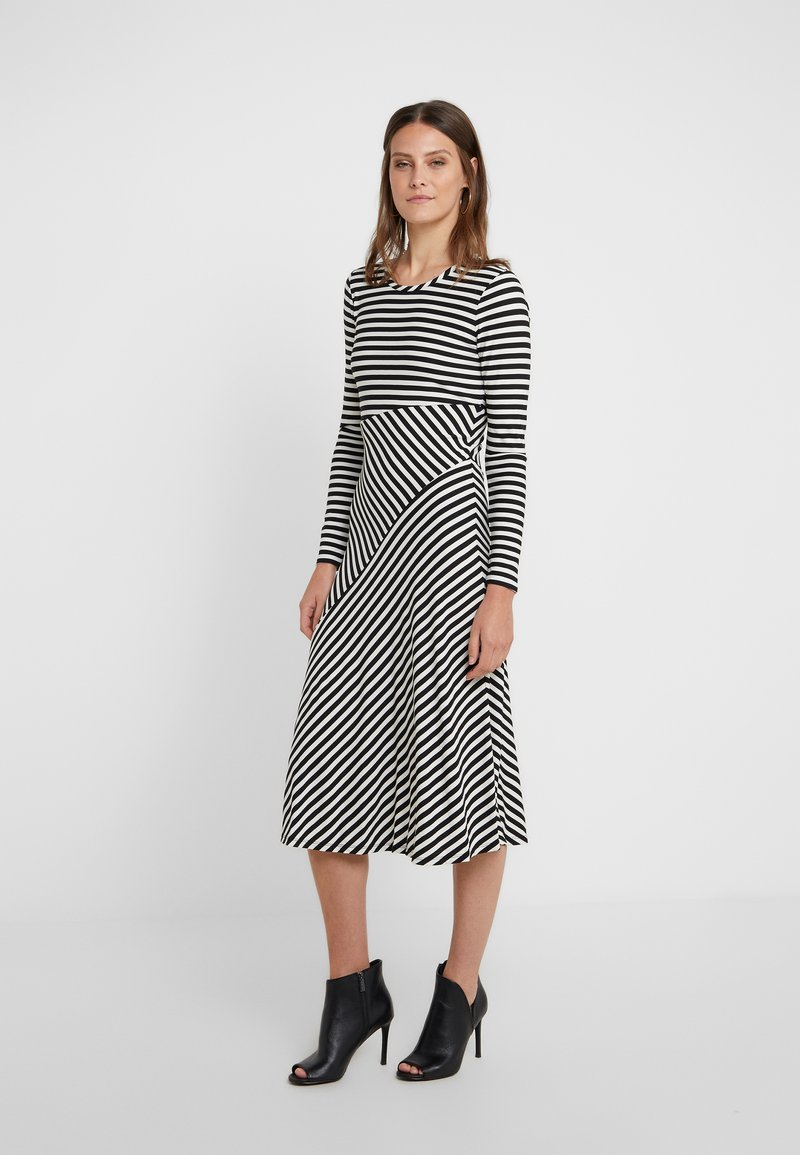 MICHAEL Michael Kors - Jersey dress - black / bone