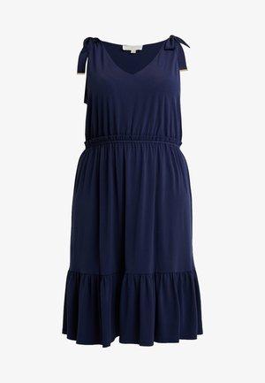 TIE SHOULDER MIDI - Jersey dress - true navy
