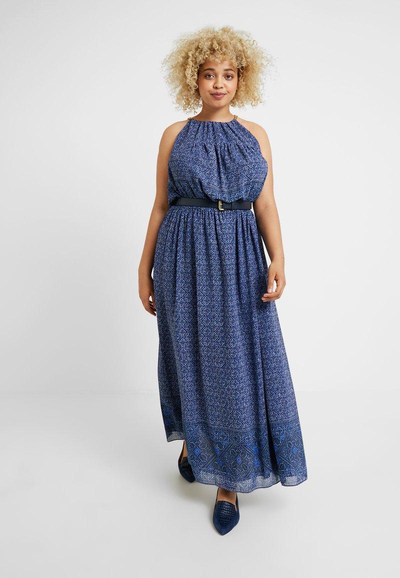 MICHAEL Michael Kors - MONACO TILE CHAIN - Maxi dress - true navy/twilight blue