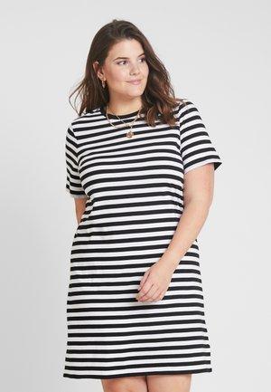 STRIPE - Jerseyklänning - black/white