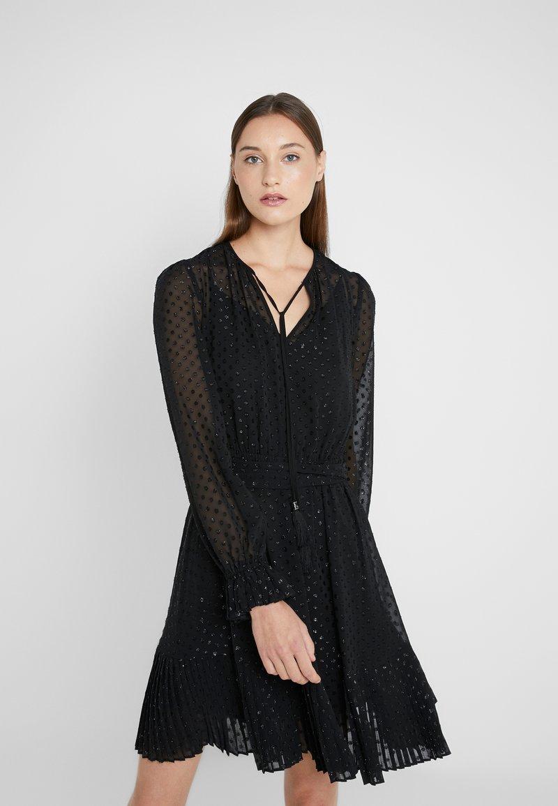 MICHAEL Michael Kors - TASSEL PLEAT - Day dress - black