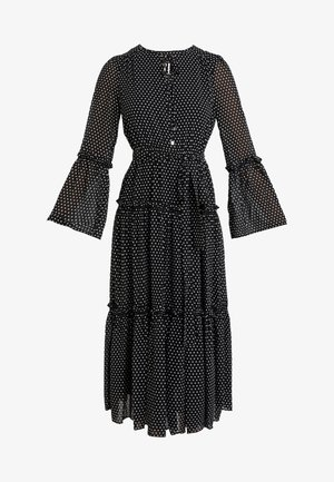 TIERED BOHO DRESS - Vestido informal - black/bone
