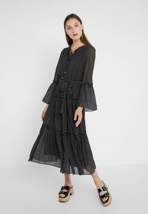 TIERED BOHO DRESS - Denní šaty - black/bone