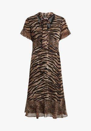GLAM BENGAL TIE - Korte jurk - dark camel