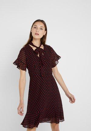 MOD DOT TIE - Day dress - black/scarlet