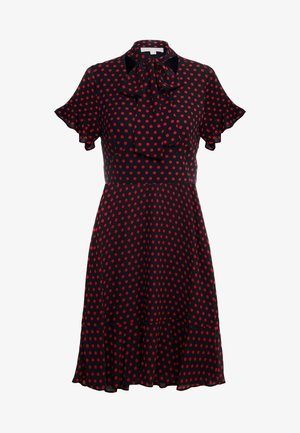 MOD DOT TIE - Sukienka letnia - black/scarlet