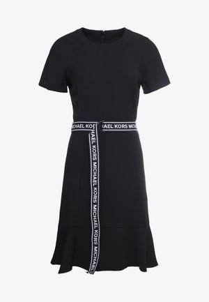 LOGO BELT DRESS - Korte jurk - black