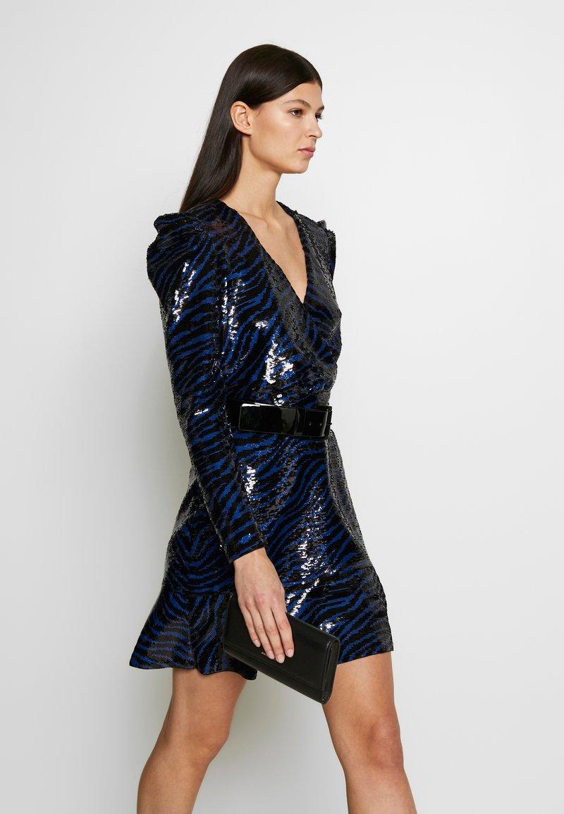MICHAEL Michael Kors - BENGAL  - Koktejlové šaty/ šaty na párty - black/twilight blue