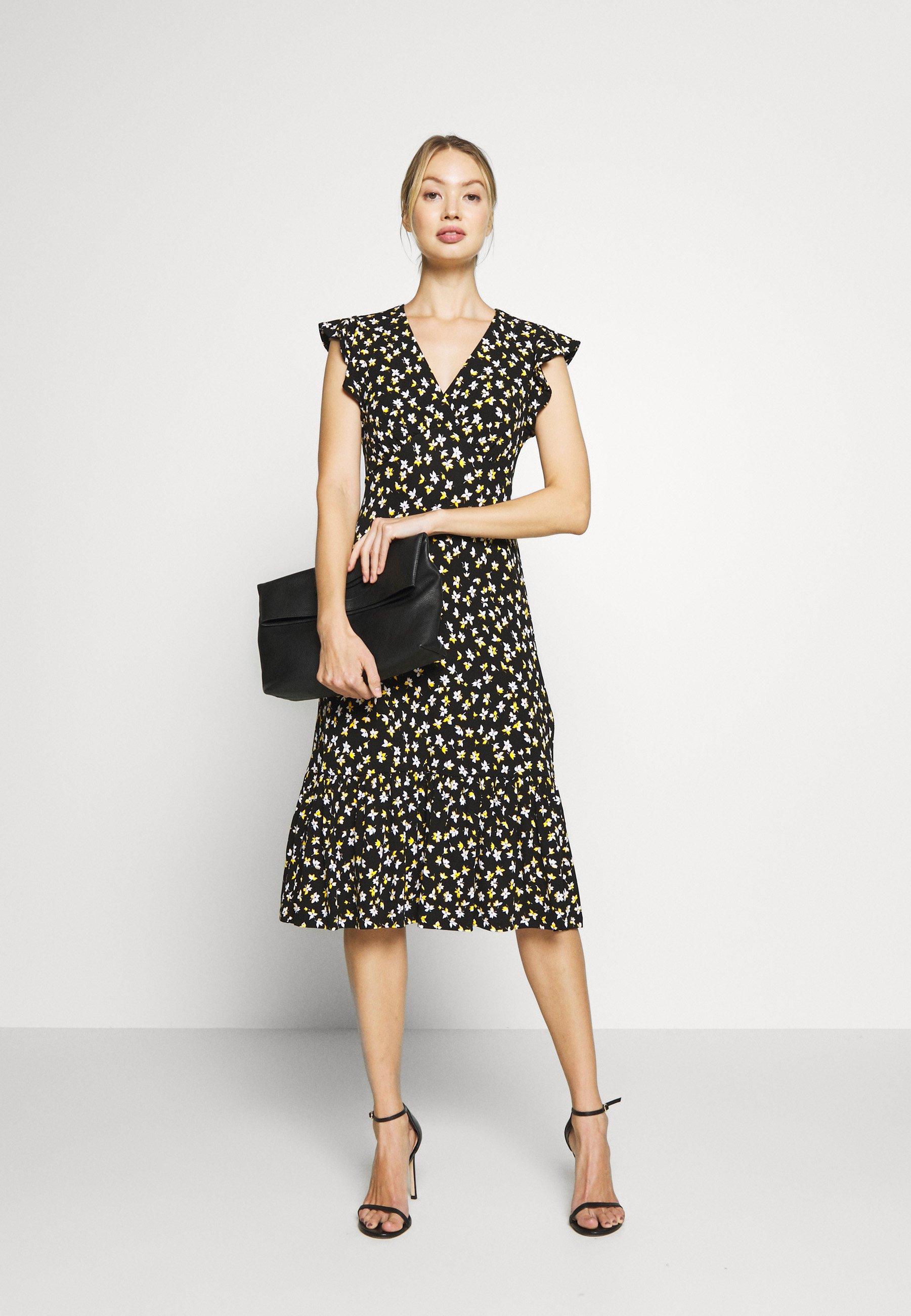Michael Kors Lillie Midi - Jerseyklänning Black