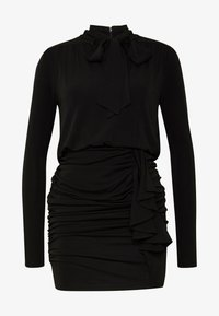 MICHAEL Michael Kors - TIE NECK MINI DRESS - Etui-jurk - black - 5