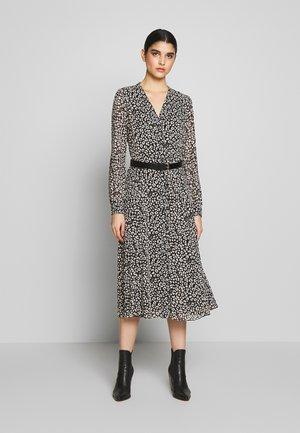 DRESS - Shirt dress - black/bone