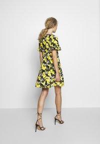 MICHAEL Michael Kors - TROP SQN FLARE DRESS - Day dress - black/bright dandelion - 2