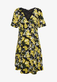 MICHAEL Michael Kors - TROP SQN FLARE DRESS - Day dress - black/bright dandelion - 4