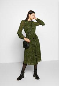 MICHAEL Michael Kors - DRESS - Day dress - black/evergreen - 1