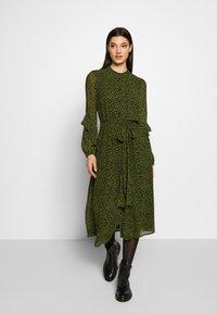 MICHAEL Michael Kors - DRESS - Day dress - black/evergreen - 0